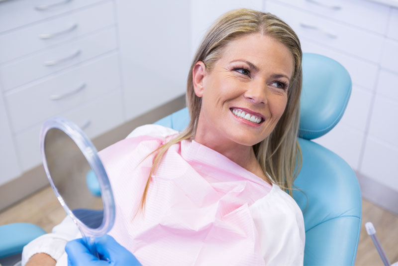 dental patient smiling after procedure