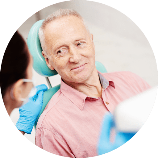 dentures patient smiling